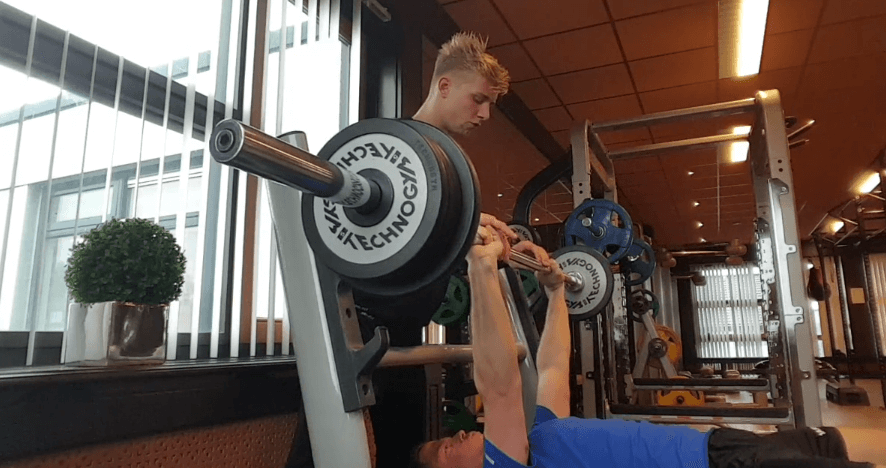 Dropset bench press nico schilder
